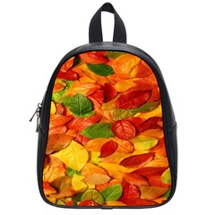 Leaves Texture School Bags (small)