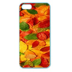 Leaves Texture Apple Seamless Iphone 5 Case (color) by BangZart