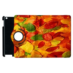 Leaves Texture Apple Ipad 2 Flip 360 Case by BangZart