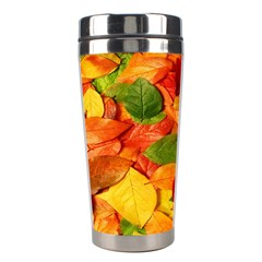Leaves Texture Stainless Steel Travel Tumblers by BangZart