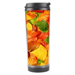 Leaves Texture Travel Tumbler by BangZart