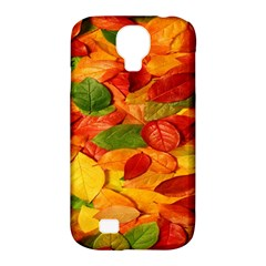 Leaves Texture Samsung Galaxy S4 Classic Hardshell Case (pc+silicone)