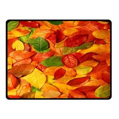 Leaves Texture Double Sided Fleece Blanket (small)  by BangZart