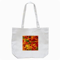 Leaves Texture Tote Bag (white) by BangZart