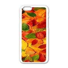 Leaves Texture Apple Iphone 6/6s White Enamel Case by BangZart