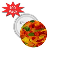 Leaves Texture 1 75  Buttons (100 Pack)  by BangZart