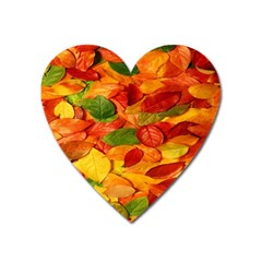 Leaves Texture Heart Magnet by BangZart