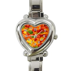 Leaves Texture Heart Italian Charm Watch