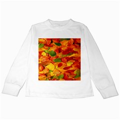 Leaves Texture Kids Long Sleeve T Shirts