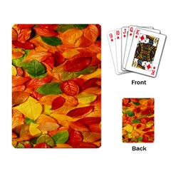 Leaves Texture Playing Card