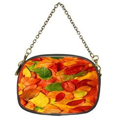 Leaves Texture Chain Purses (one Side)