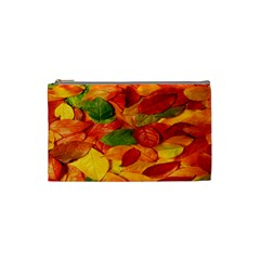 Leaves Texture Cosmetic Bag (small)