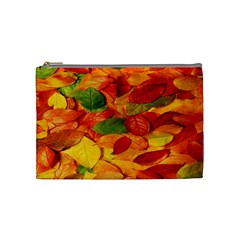 Leaves Texture Cosmetic Bag (medium)
