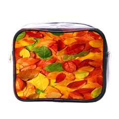 Leaves Texture Mini Toiletries Bags by BangZart