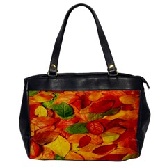 Leaves Texture Office Handbags by BangZart
