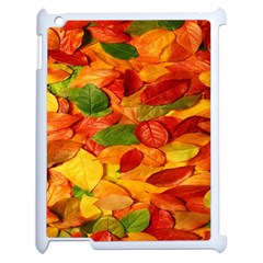 Leaves Texture Apple Ipad 2 Case (white) by BangZart