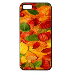 Leaves Texture Apple Iphone 5 Seamless Case (black) by BangZart