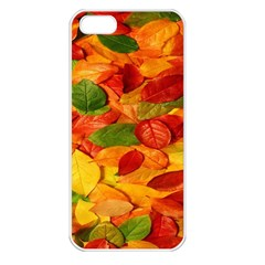 Leaves Texture Apple Iphone 5 Seamless Case (white)