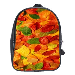Leaves Texture School Bags (xl)  by BangZart
