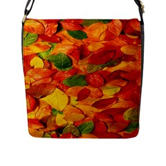 Leaves Texture Flap Messenger Bag (l)  by BangZart