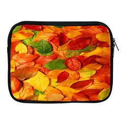 Leaves Texture Apple Ipad 2/3/4 Zipper Cases by BangZart
