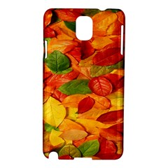 Leaves Texture Samsung Galaxy Note 3 N9005 Hardshell Case by BangZart