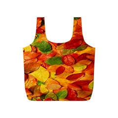 Leaves Texture Full Print Recycle Bags (s)  by BangZart