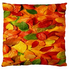 Leaves Texture Large Flano Cushion Case (two Sides)