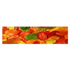 Leaves Texture Satin Scarf (oblong)