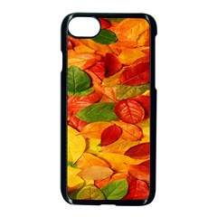 Leaves Texture Apple Iphone 7 Seamless Case (black)