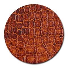Crocodile Skin Texture Round Mousepads by BangZart