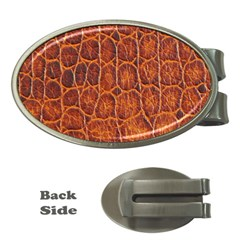 Crocodile Skin Texture Money Clips (Oval)