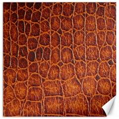Crocodile Skin Texture Canvas 12  X 12   by BangZart