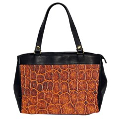 Crocodile Skin Texture Office Handbags (2 Sides)  by BangZart