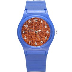 Crocodile Skin Texture Round Plastic Sport Watch (s) by BangZart