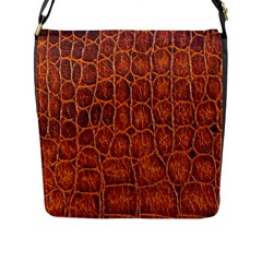 Crocodile Skin Texture Flap Messenger Bag (l)  by BangZart