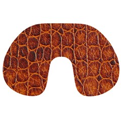 Crocodile Skin Texture Travel Neck Pillows