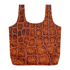 Crocodile Skin Texture Full Print Recycle Bags (l)  by BangZart