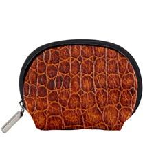 Crocodile Skin Texture Accessory Pouches (small)