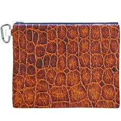 Crocodile Skin Texture Canvas Cosmetic Bag (xxxl) by BangZart