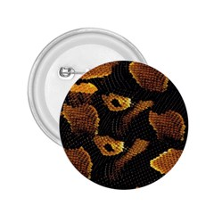 Gold Snake Skin 2.25  Buttons