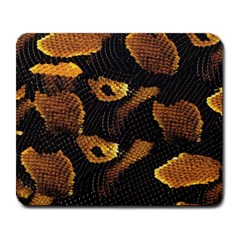 Gold Snake Skin Large Mousepads