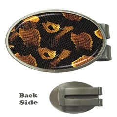 Gold Snake Skin Money Clips (oval)