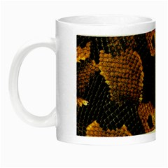 Gold Snake Skin Night Luminous Mugs by BangZart