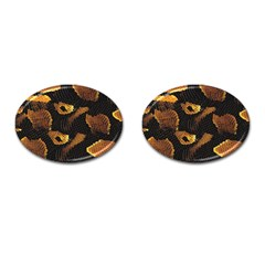 Gold Snake Skin Cufflinks (oval) by BangZart