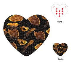 Gold Snake Skin Playing Cards (heart)  by BangZart