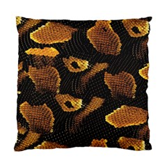 Gold Snake Skin Standard Cushion Case (one Side) by BangZart