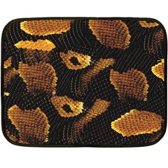 Gold Snake Skin Fleece Blanket (mini) by BangZart