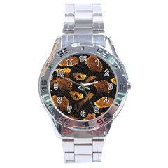 Gold Snake Skin Stainless Steel Analogue Watch