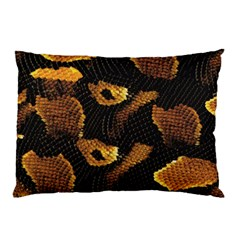 Gold Snake Skin Pillow Case (two Sides)